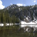 Marten Lake in early July.- High Altitude Hikes to Rise Above the Heat