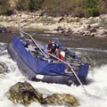 A commercial sweep boat on the Middle Fork of the Salmon River drops over the lip of Tappan Falls around 2.5 feet.- 2017 River Lottery Deadlines and Cancellation Announcements