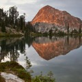 Mount Everly sunset from Lake 8,696.- Idaho's Best Backpacking Trips