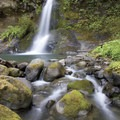 Flora Dell Falls cascades into a beautiful swimming hole right along the Rogue River Trail.- Southern Oregon Road Trip