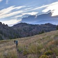 Traversing the open, flower-covered hillsided between Warfield and Red Warrior Creeks.- 10 Amazing Idaho Adventures