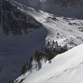 Skiing the south face of Williams Peak above the hut.- 10 Winter Huts You Should Visit