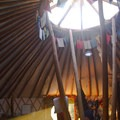 Inside the Williams Peak Hut in the Sawtooth Mountains.- 10 Awesome Yurts for Winter Adventure