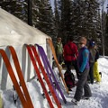 Skinning up and ready to go.- 10 Awesome Yurts for Winter Adventure