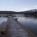 Redfish Lake dock.- Winter Retreat to Stanley, Idaho
