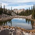 Twin Peaks and lower Maybird Lake. - Amazing Alpine Lakes