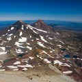 Middle and North Sister viewed from the South Sister.- 30 Must-Do Adventures in Oregon