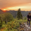 Catching sunrise from Circle All Peak. - 5 Ways to Experience Autumn in Utah