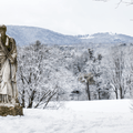 A statue near Mills Mansion in Mills-Norrie State Park. - 9 Must-See New York State Parks