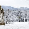 Statue near the Mills mansion.- Hudson Valley's 12 Best Winter Adventures