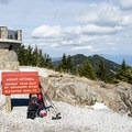 Summit of Mount Mitchell, the highest peak east of the Mississippi.- Stunning Fall Adventures in the Central Appalachians