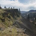 Views of Mosier Valley. - Mosier Creek Falls + Plateau Trail