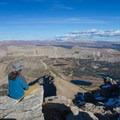 Contributor John Badila at the summit of Mount Agassiz.  - High Uintas Wilderness