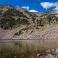 Morat Lake with Mount Agassiz. The route to Blue Lake climbs on the right side of the slope. - Where to Hike In Utah's Uinta Mountains
