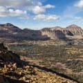 Middle Basin and Hayden Peak (12,479 feet, left of photo).- High Uintas Wilderness