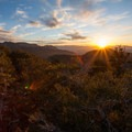 Sunset over Salt Lake Valley from Mount Aire.- OP Adventure Review December 28-31, 2015