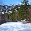 Heading up the Hatchery Creek Trail.- 35 Amazing Snowshoe Trails in Washington
