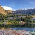 Sundial Peak (10,320 ft) and Dromedary Peak (11,433 ft) over Lake Blanche.- 30 Alpine Lakes You Should Visit This Summer