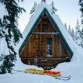Snow can reach up to the second level, requiring snow stairs to enter.- Glamping