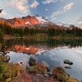 Mount Jefferson at Scout Lake.- Climb a Mountain