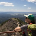 Looking across the Yellowstone caldera from atop Mount Washburn.- Yellowstone National Park