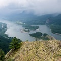 Morning clouds down the Columbia River Gorge from Munra Point.- Water: The Lifeblood of the Columbia River Gorge