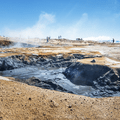 One of several large bubbling mud pits.- Guide to Iceland's Ring Road