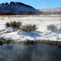 Not far from the main Heart Mountain Hot Springs pool there is an undeveloped hot spring that may be suitable for soaking.- OP Adventure Review: December 2-10, 2015