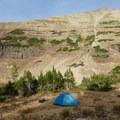 Campsite above Blue Lake.  - High Uintas Wilderness
