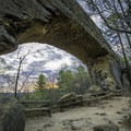 Red River Gorge's Natural Bridge at sunrise.- Must-See Arches Across America