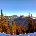 Views from the approach to Skyline Lake.- Great Snowshoeing Near Seattle