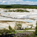 Nice walkways make visiting this area easy.- Norris Geyser Basin