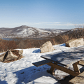 Picnic area at North Point trailhead.- Hudson Valley's 12 Best Winter Adventures