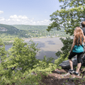 The first viewpoint up the path along the North Ridge Trail in Storm King State Park.- Dramatic Fjord Formations