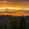 The sun sets over alpine terrain on the Pacific Northwest Scenic Trail.- Ralph Waldo Emerson: Nature and the Soul