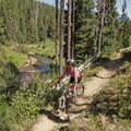 Enjoying some scenic riding along the North Umpqua River Trail.- Oregon Fall Adventures
