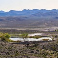 Overlooking South Pond and Oasis Valley from the Spicer Ranch mountain biking and hiking trail.- Nevada's Best Adventures Off the Beaten Path