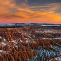 Bryce Point at sunrise.- Winter Road Trips to Top Your To-Do List