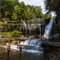 Cummins Falls is a beautiful cascade with a great swimming hole.- 7 Must-See Tennessee Waterfalls