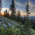 A beautiful sunset from 10,420.- 6 Days of Adventure in Utah's Wasatch Mountains