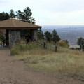 Gazebo along Castle Trail with Denver in the distance.- Best Vistas for Fireworks: Denver, CO