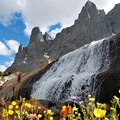 Cirque of the Towers waterfall.- Our 10 Favorite Dog-Friendly Backpacking Trips