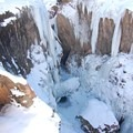 Cave at the base of the park.- Ouray Ice Park