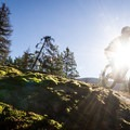 A rock line on Out There.- Mountain Biking in British Columbia