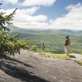 Peering over the edge to the south.- 15 Must-see Fall Foliage Adirondack Adventures
