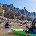 Monkey Face rock formation in Smith Rock State Park seen from the Crooked River.- Whitewater 101: How to Prepare for a Day on the River