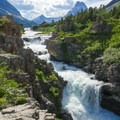 Swiftcurrent River Falls.- Glacier National Park