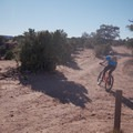 Good Water Rim Trail: Cutting back toward the parking area.- A Complete Guide to the Best Mountain Biking in Moab, Utah
