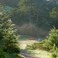 Mist in the morning at Sky Camp. Point Reyes National Seashore.- Guide to Bay Area Camping