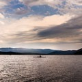 Clouds, smoke, and haze make for a dramatic skyscape over Lake Wenatchee.- Washington's Best Lakes